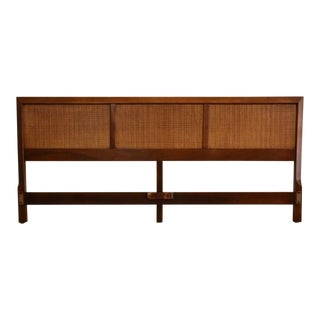 American of Martinsville Walnut King Headboard For Sale