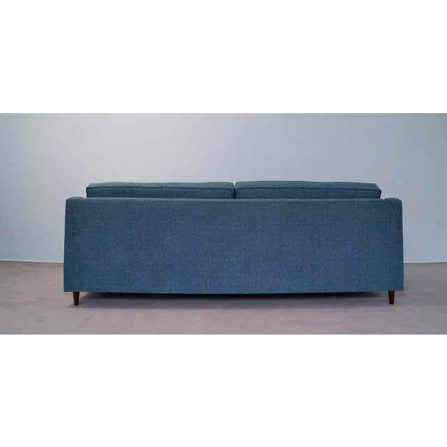 Original Mid-Century Modern Reupholstered Tweed Sofa - Image 5 of 11