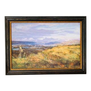 Landscape #1 Mulholland Overlook Fine Art Giclee Print on Canvas Framed For Sale