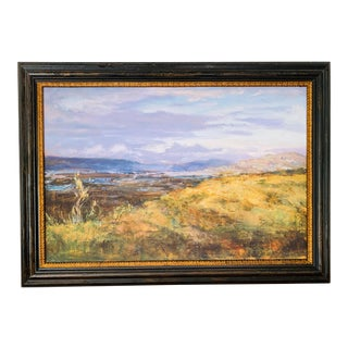 Landscape West Coast #1 Mulholland Overlook Fine Art Giclee Print on Canvas Framed For Sale