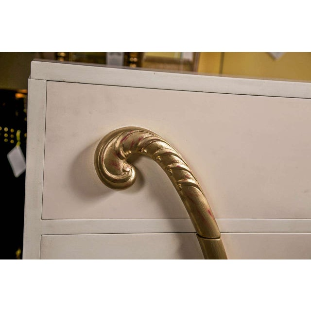 Jansen Hollywood Regency White Painted Dresser - Image 7 of 7