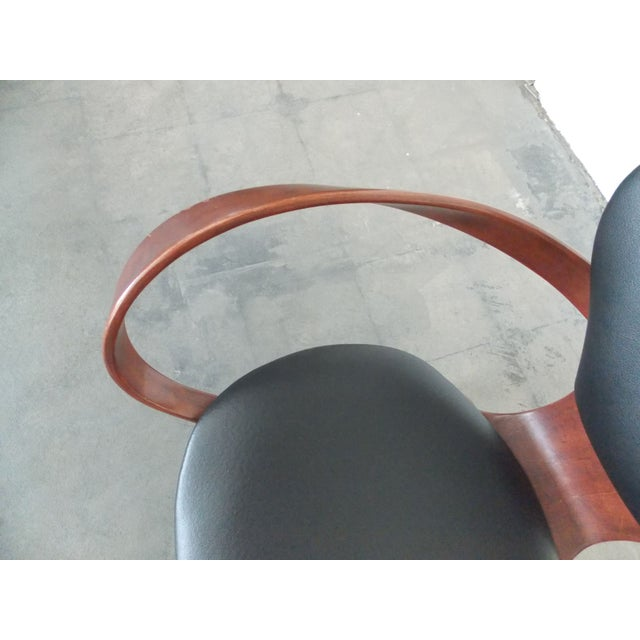Black Bentwood Pretzel Arm Chairs - A Pair For Sale - Image 8 of 10