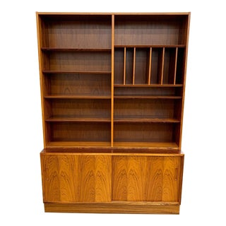 Danish Rosewood Credenza & Bookcase by Poul Hundevad For Sale