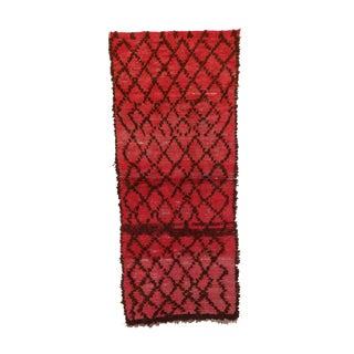 """Boujad, Vintage Moroccan Rug, 2'8"""" X 6'3"""" Feet"""