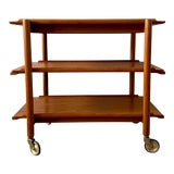Image of Poul Hundevad Danish Teak Bar Cart For Sale