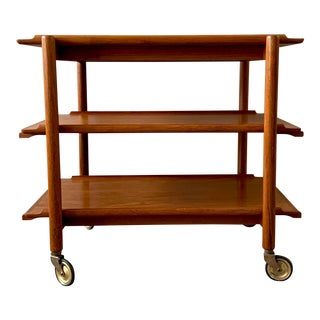 Poul Hundevad Danish Teak Bar Cart For Sale