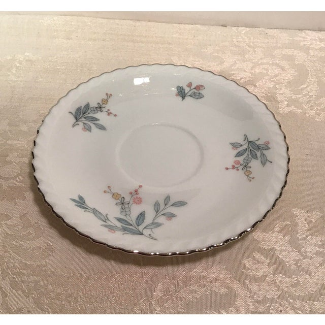 Mid-Century Bavarian China Cups & Saucers For Sale - Image 5 of 11