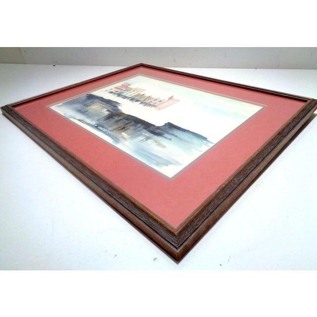 "1990s Karen Stevens (Washington/Texas, 1950-2017) Original Watercolor Seattle ""Warf"" For Sale - Image 5 of 9"