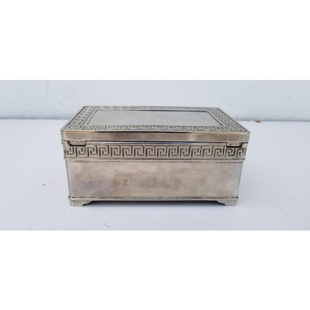 Silver 1980s Vintage Italian Vera Lucino Decorative Silver Plate Box For Sale - Image 8 of 12