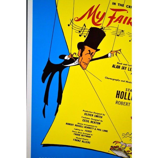 """""""My Fair Lady"""" Play Poster, Artwork by Hirschfeld For Sale - Image 6 of 6"""