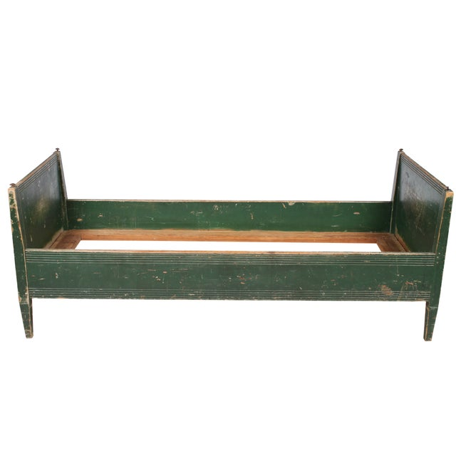 19th-C. Swedish Gustavian-Style Twin Bed - Image 2 of 4