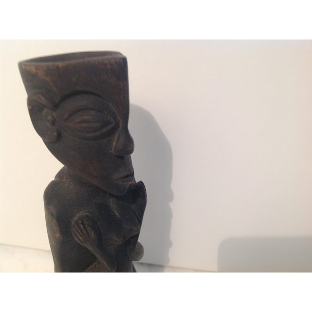 Rustic Carved Wood Figure - Image 8 of 8