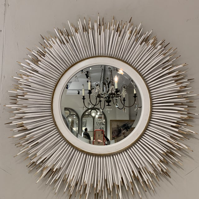 Hollywood Regency Faux Porcupine Mirror For Sale - Image 12 of 13