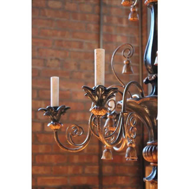 Antique Italian Gilt-Wood Chandelier - Image 5 of 5