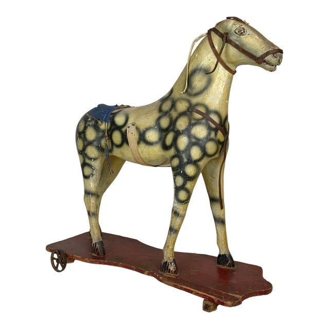 Late 19th Century Painted Toy Horse For Sale