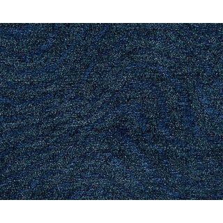 Hinson for the House of Scalamandre Boomerang Fabric in Blue For Sale