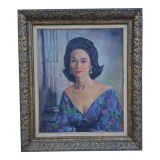 1962 Oil Portrait Painting by Romi Bonyaer.