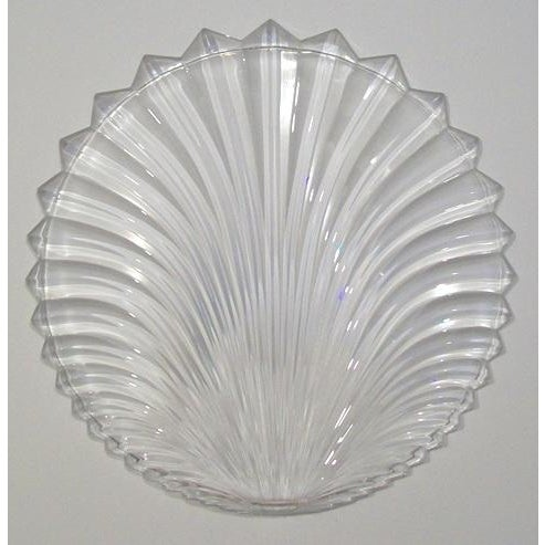 Lead Crystal Shell Platter - Image 5 of 5