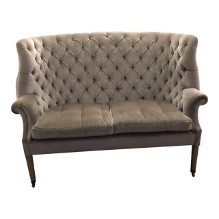 Restoration Hardware English Wing Settee For Sale