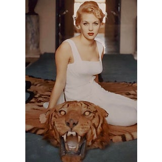 """Slim Aarons """"Beautiful Lady Daphne Cameron on a Tiger Skin Rug"""" Photograph, 1959 For Sale"""