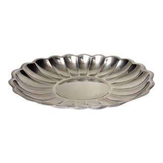 Reed & Barton Silverplate Large Coved Server Platter For Sale