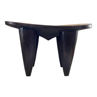 Lg African Senufo Stool / Table I Coast For Sale