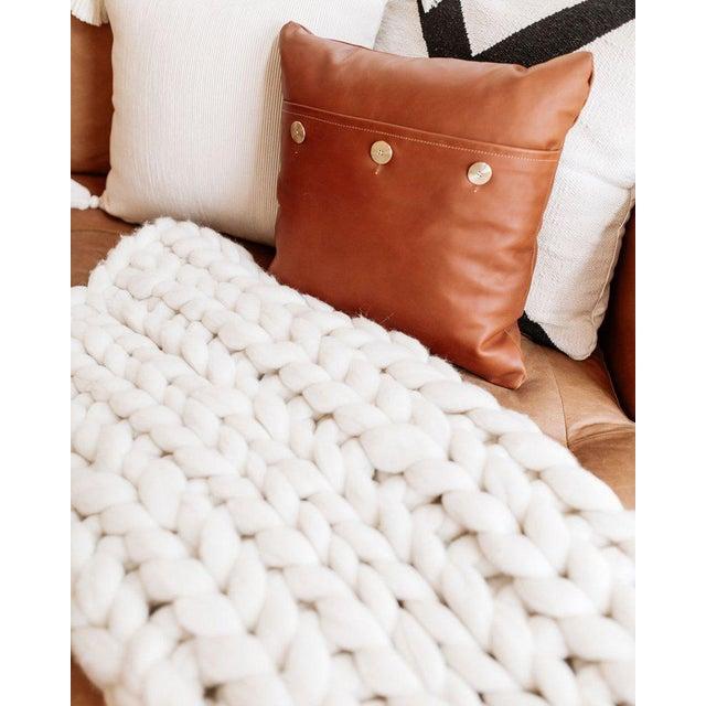 Handmade Chunky Wool Throw For Sale - Image 4 of 7