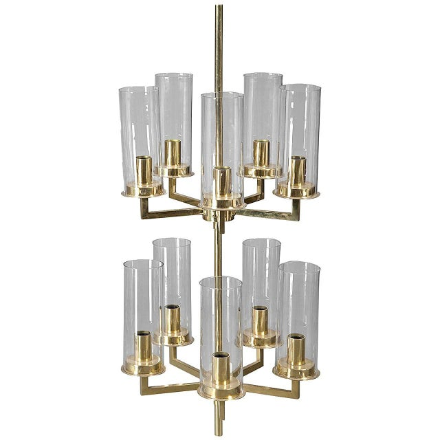Mid-Century Modern Chandelier by Hans-Agne Jakobsson For Sale - Image 3 of 3