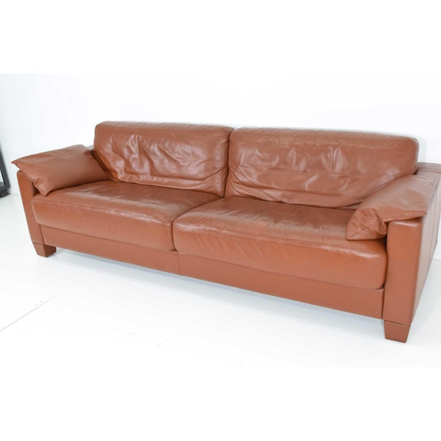 De Sede 1990s Vintage De Sede Leather Sofa For Sale - Image 4 of 11