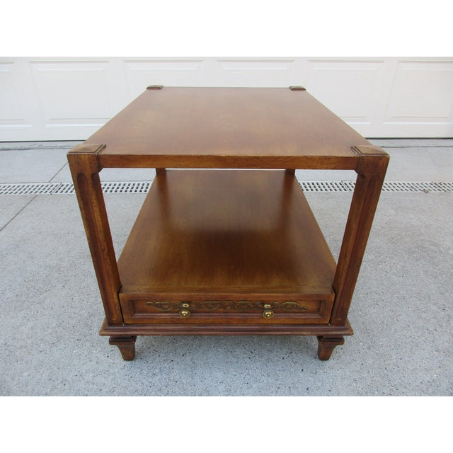 Mid-Century Modern Fine Arts Furniture Co. Two-Tiered Side Table For Sale - Image 11 of 11