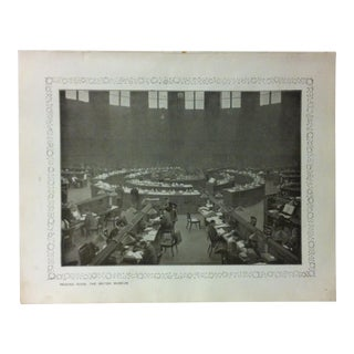 """1906 """"Reading Room - the British Museum"""" Famous View of London Print For Sale"""