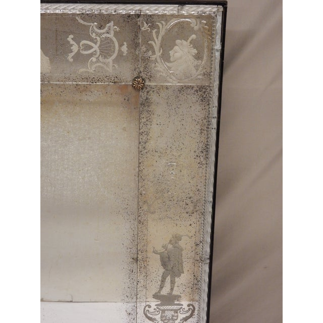 Italian Antique Venetian Glass Mirrors - a Pair For Sale - Image 3 of 13