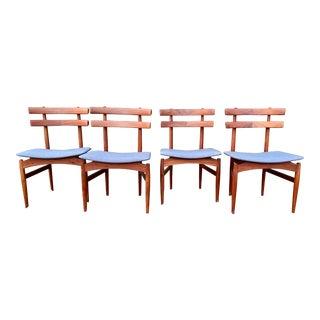 Danish Modern Teak Dining Chairs- Set of 4 For Sale