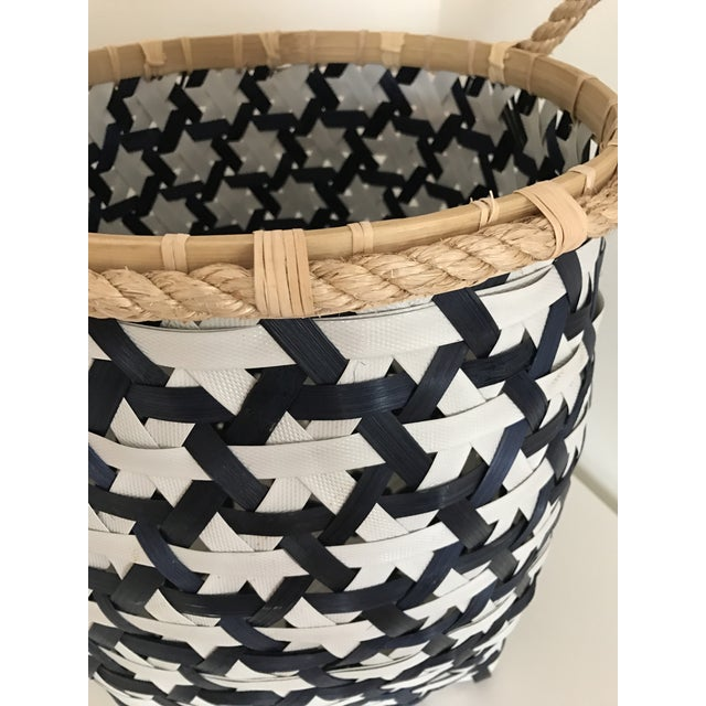 Anthropologie Starry Night Woven Basket - Image 7 of 9
