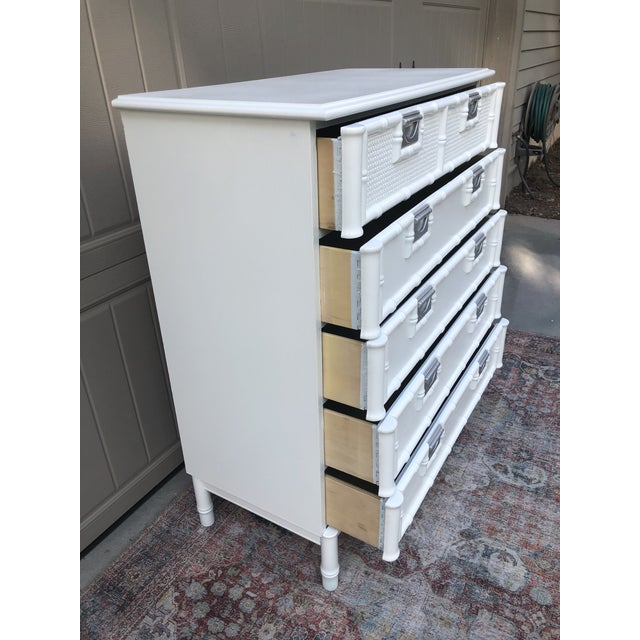 Stanley Furniture Faux Bamboo Chest of Drawers For Sale In Savannah - Image 6 of 10