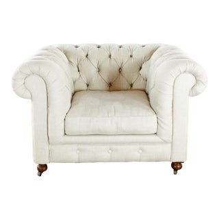 Restoration Hardware Kensington Upholstered Armchair For Sale