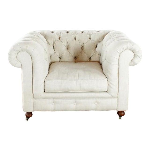 Restoration Hardware Kensington Upholstered Armchair For Sale