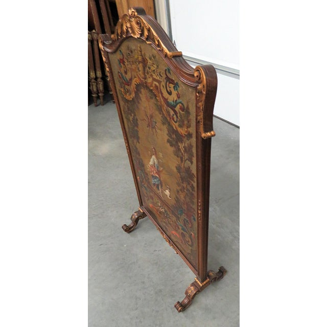 Early 20th Century Regency Style Oil Painted Screen For Sale - Image 5 of 7