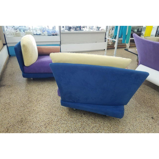 1990s 1990s Vintage Saporiti Modern Lounge Chairs - A Pair For Sale - Image 5 of 8