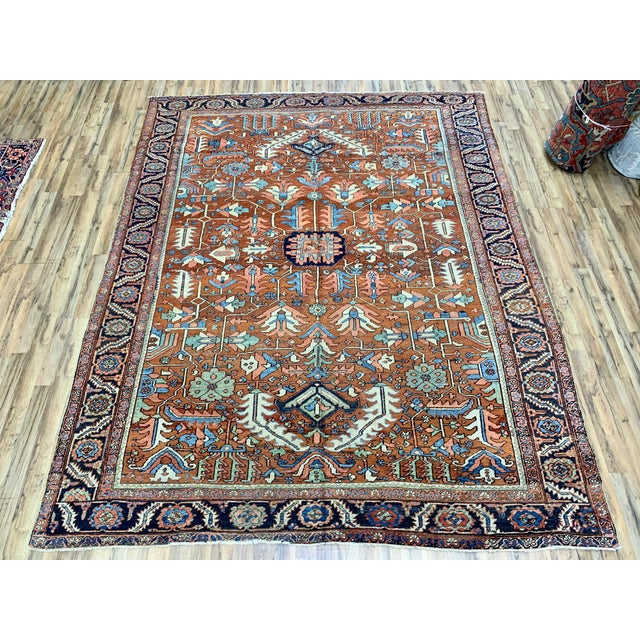 Antique Persian Sarapi Rug For Sale - Image 12 of 12