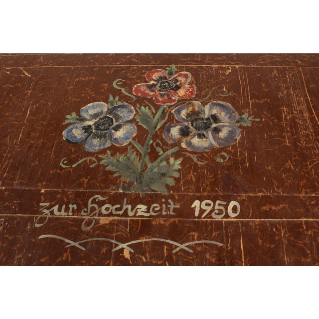 1950 Hand-Painted Bread Board For Sale - Image 4 of 6