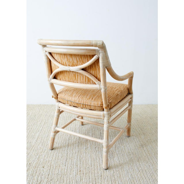 McGuire Cerused Rattan Dining Chairs- Set of 9 For Sale In San Francisco - Image 6 of 13