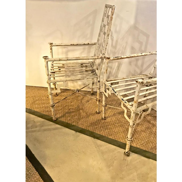 Art Deco Art Deco Iron Patio Chairs - a Pair For Sale - Image 3 of 9