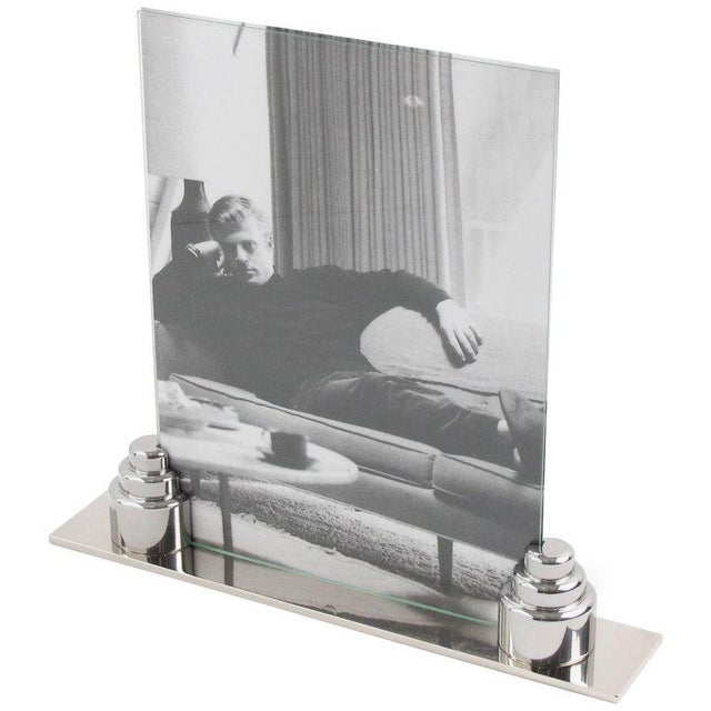 Art Deco Machine Age Chrome Picture Frame - Image 3 of 7