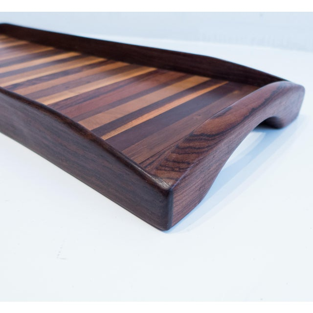 Cocobolo Don Shoemaker Exotic Woods Tray For Sale - Image 7 of 10