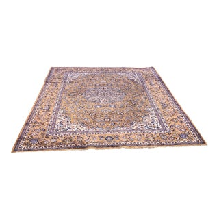 Old Persian Nain Rug - 9′8″ × 13′3″ For Sale