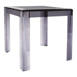 Contemporary Kenneth Ludwig Chicago Harmon Acrylic Card Table For Sale