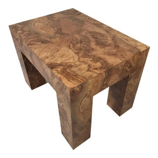 Vintage Faux Burl Wood Accent Table For Sale