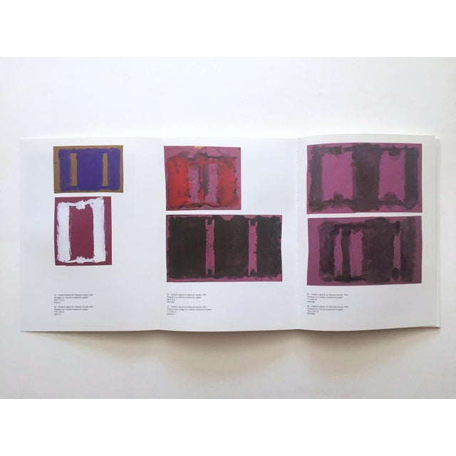 """Paper """" Mark Rothko : Works on Paper """" Vintage 1984 1st Edtn Abstract Expressionist Lithograph Print Exhibition Art Book For Sale - Image 7 of 13"""