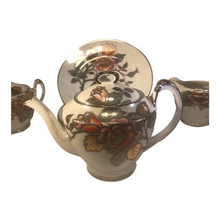 Noritake Coffee Pot Lusterware - Set of 7 For Sale